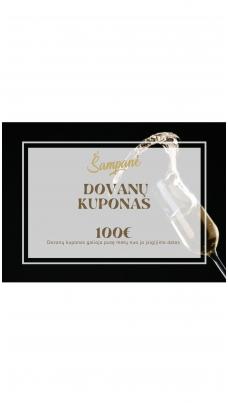 100eur vertės dovanų kuponas