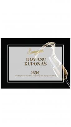 25eur vertės dovanų kuponas