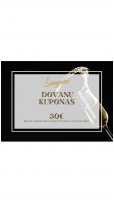 30eur vertės dovanų kuponas