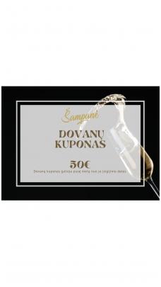 50eur vertės dovanų kuponas