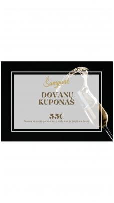 55eur vertės dovanų kuponas